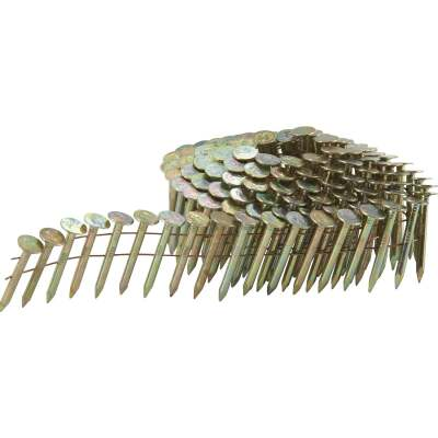 Grip-Rite 15 Degree Wire Weld Electrogalvanized Coil Roofing Nail, 1-1/4 In. (7200 Ct.)