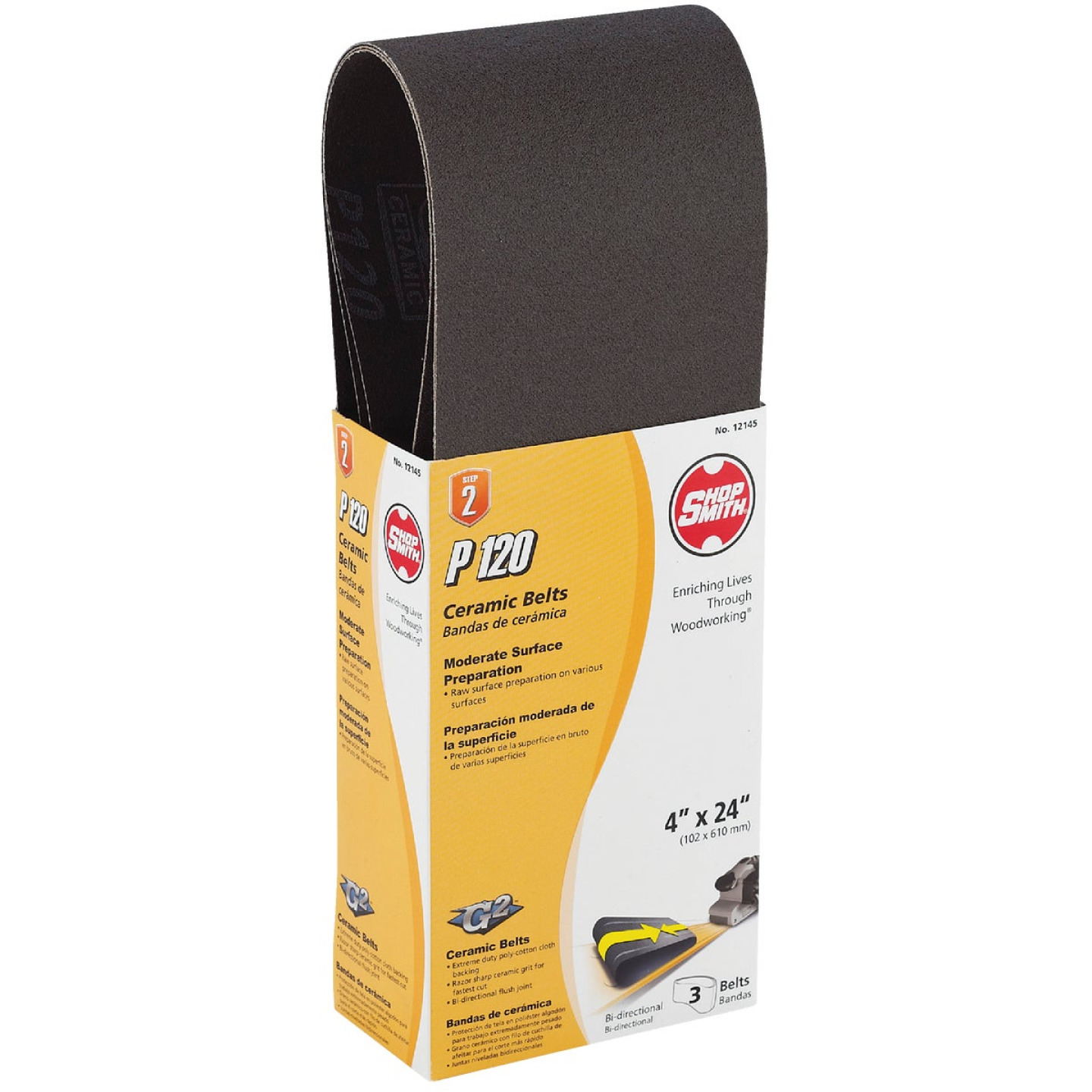 Gator Blade 4 In. x 24 In. 120 Grit Heavy-Duty Sanding Belt (3-Pack) Image 1