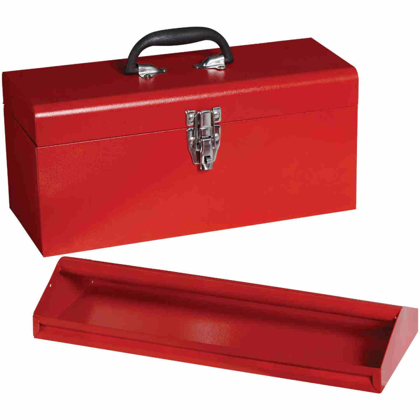 17 In. Red Steel Toolbox Image 1