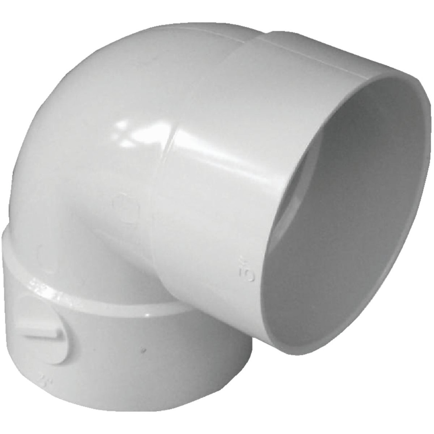 IPEX Canplas 3 In. SDR 35 90 Deg. PVC Sewer and Drain Short Turn Elbow (1/4 Bend) Image 1