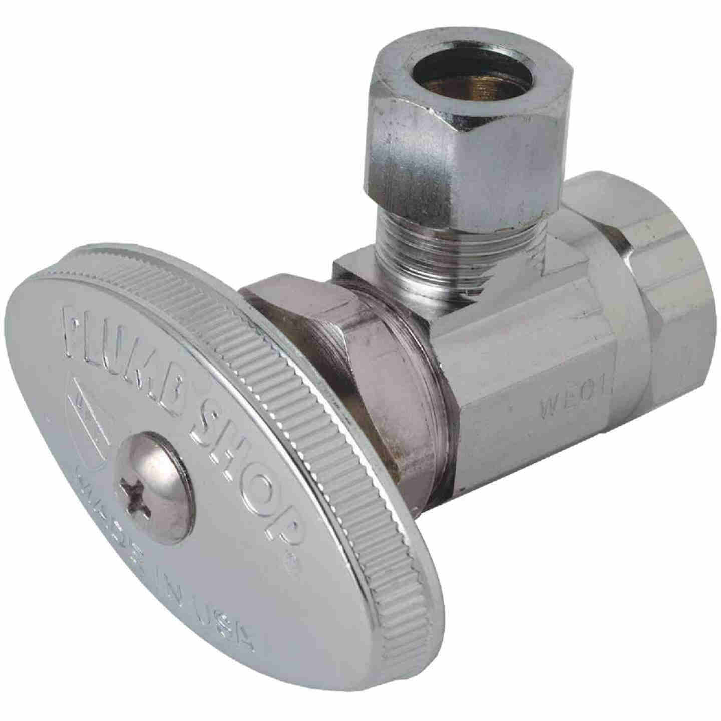 BrassCraft 3/8 In. FIP Inlet x 3/8 In. OD Tube Outle Multi-Turn Angle Valve Image 1