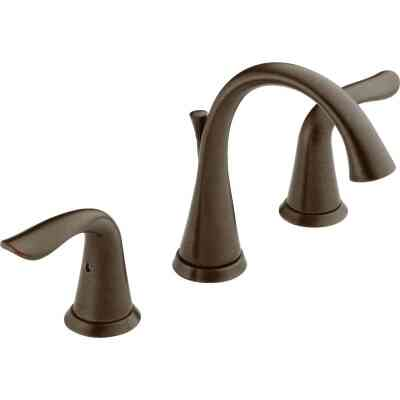 Delta Lahara Venetian Bronze 2-Handle Lever 8 In. Widespread Bathroom Faucet with Pop-Up