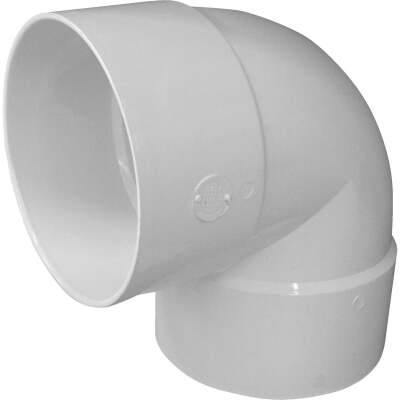 IPEX Canplas 6 In. SDR 35 90 Deg. PVC Sewer and Drain Short Turn Elbow (1/4 Bend)