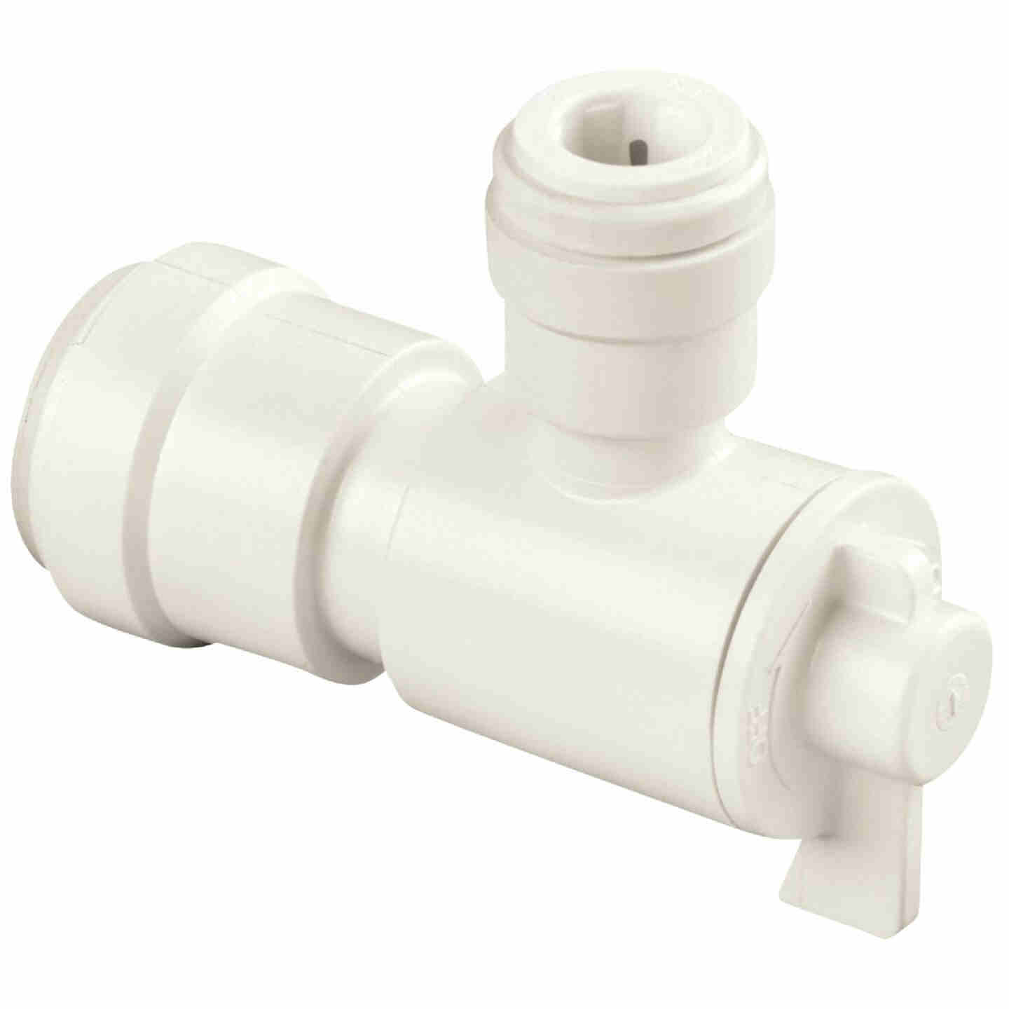 Watts 1/2 In. CTS X 1/2 In. OD Quick Connect Stop Angle Valve Image 1