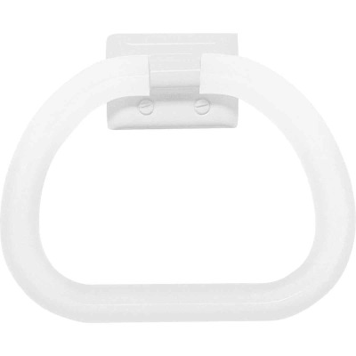 Decko White Plastic Towel Ring