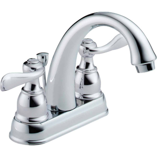 Delta Windmere Chrome 2-Handle Lever 4 In. Centerset Bathroom Faucet with Pop-Up