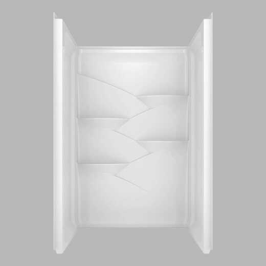 Delta Laurel 3-Piece 48 In. L x 34 In. D Shower Wall Set in White