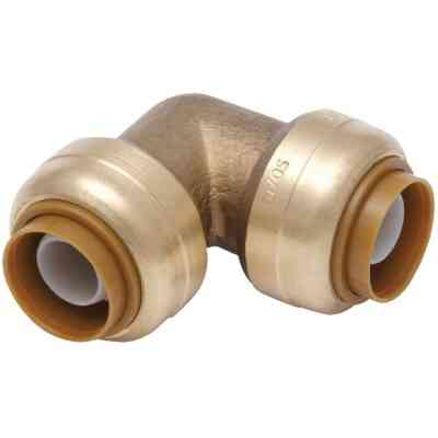 SharkBite 1 In. x 1 In. 90 Deg. Push-to-Connect Brass Elbow (1/4 Bend)