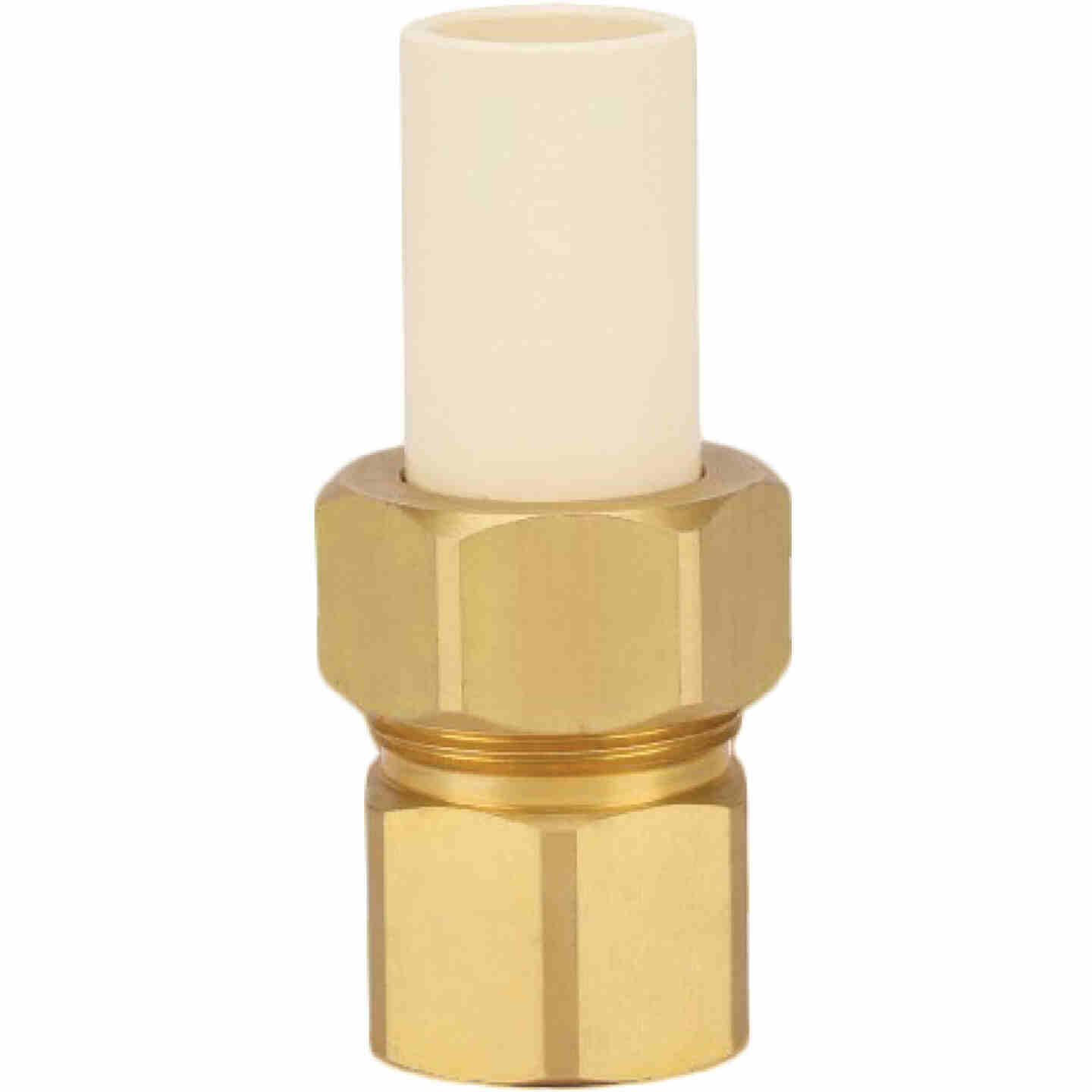 Homewerks 3/4 In. Slip x 3/4 In. FIP CPVC Transition Brass Union Image 1