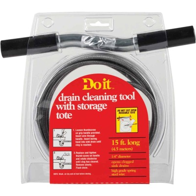 Do it 1/4 In. x 15 Ft. Galvanized Steel Wire Cleanout Drain Auger