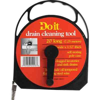 Do it 1/4 In. x 20 Ft. Poly Case Wire Cleanout Drain Auger