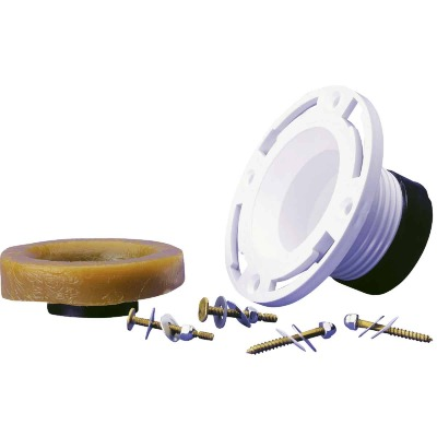 Oatey 4 In. 4 In. Cast Iron or Schedule 40 DWV PVC Closet Flange Repair Kit