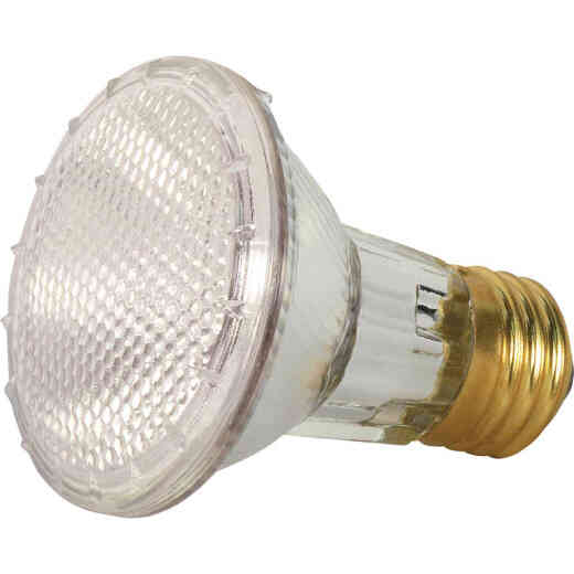 Satco 50W Equivalent Clear Medium Base PAR20 Halogen Floodlight Light Bulb