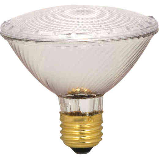 Satco 75W Equivalent Clear Medium Base PAR30S Short Neck Halogen Floodlight Light Bulb