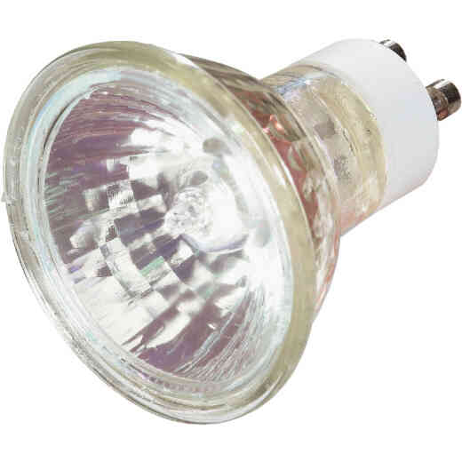 Satco 60W Equivalent Clear GU10 Base MR16 Halogen Floodlight Light Bulb