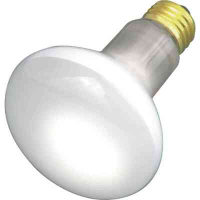 Satco 30W Frosted Medium Base R20 Reflector Incandescent Floodlight Light Bulb