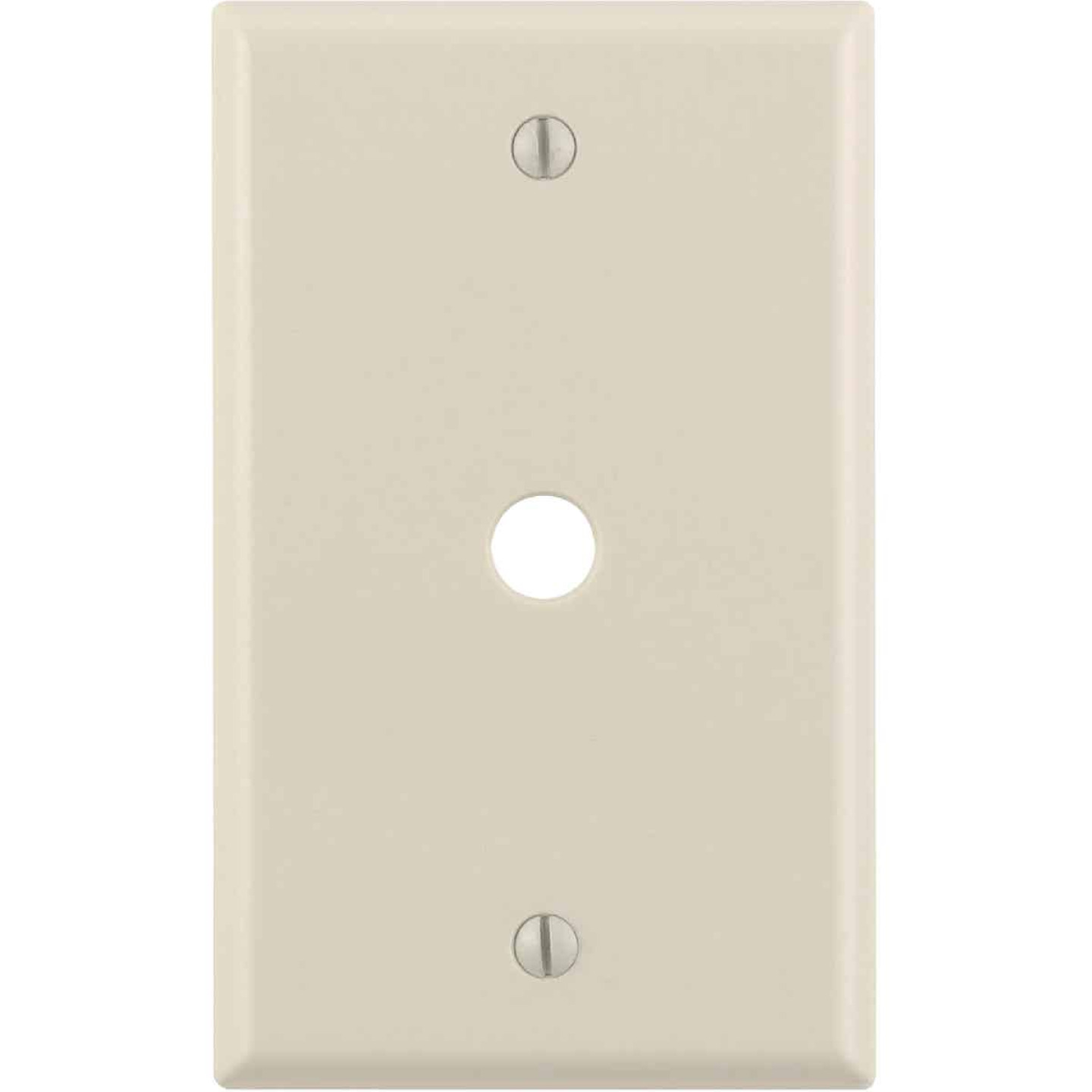 Leviton 1-Gang Plastic Light Almond Telephone/Cable Wall Plate with 0.312 In. Hole Image 1