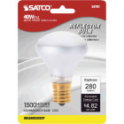 Satco 40W Frosted Intermediate Base R14 Reflector Incandescent Floodlight Light Bulb Image 1