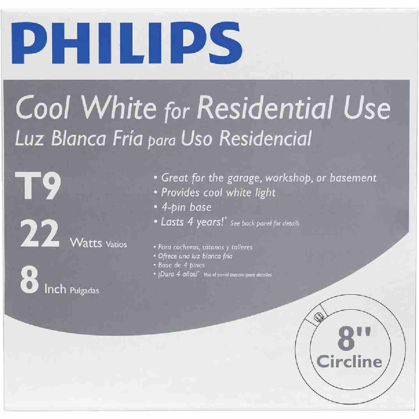 Philips 22W 8 In. Cool White T9 4-Pin Circline Fluorescent Tube Light Bulb Image 2
