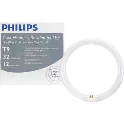 Philips 32W 12 In. Cool White T9 4-Pin Circline Fluorescent Tube Light Bulb