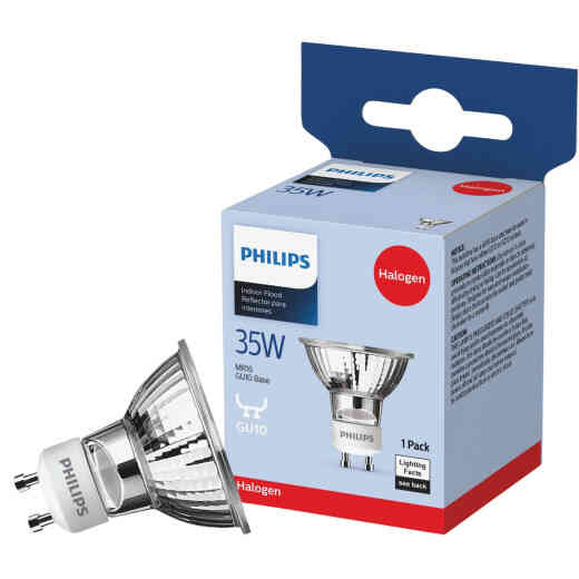 Philips 45W Equivalent Clear GU10 Base MR16 Halogen Floodlight Light Bulb