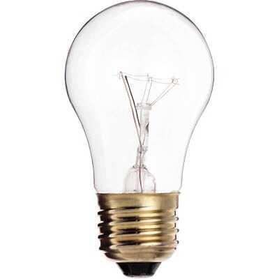 Satco 40W Clear Medium A15 Incandescent Ceiling Fan Light Bulb