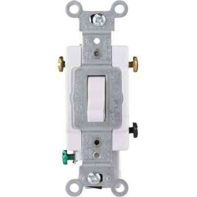 Leviton Toggle White 20A Grounding Quiet 3-Way Switch