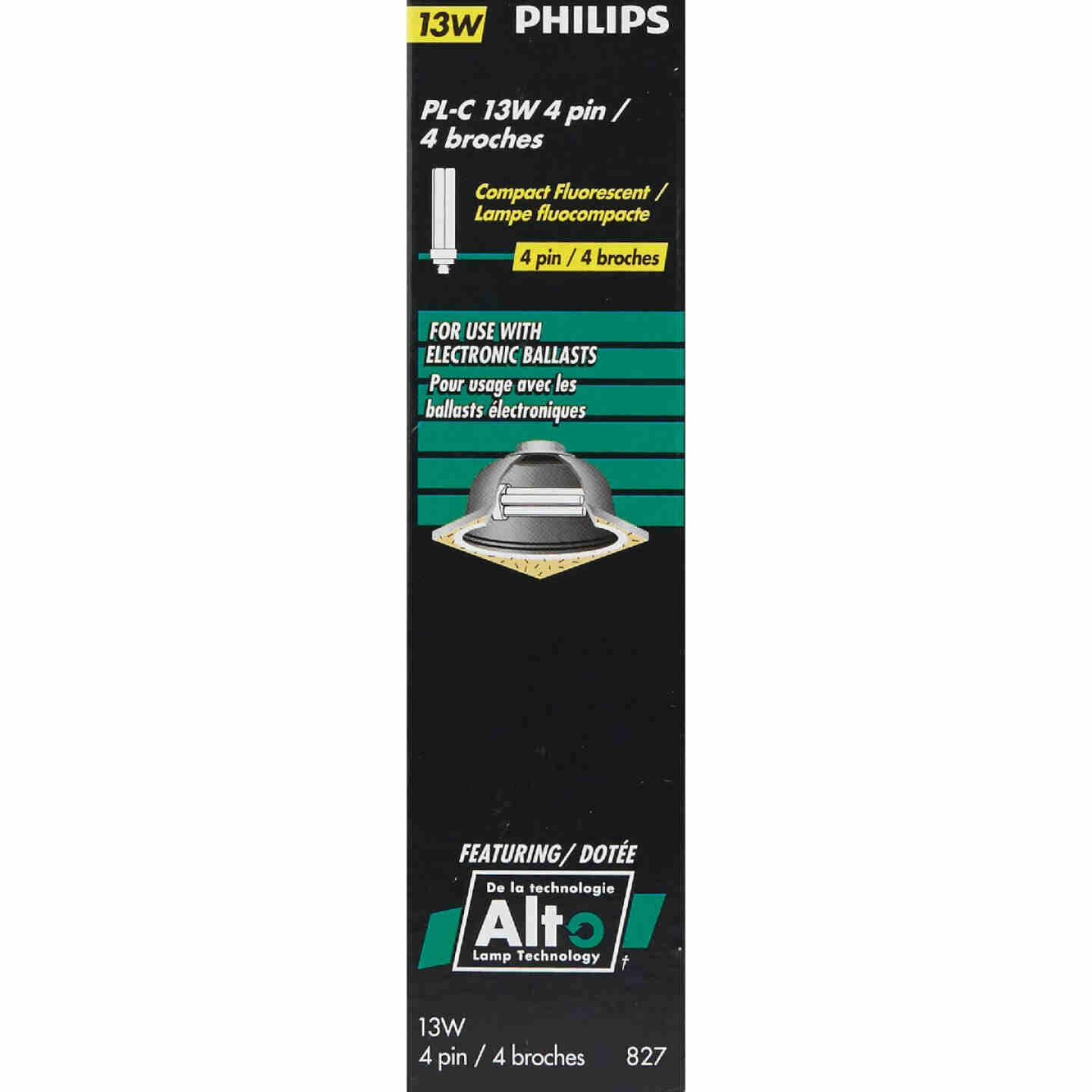 Philips 60W Equivalent Soft White G24Q-1 Base PL-C CFL Light Bulb Image 2