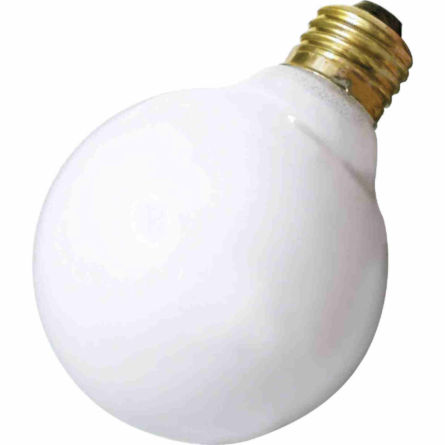 Satco 25W Frosted Soft White Medium Base G25 Incandescent Globe Light Bulb  Image 1