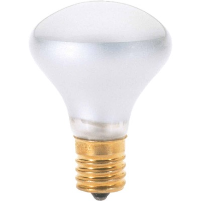 Satco 25W Frosted Intermediate Base R14 Reflector Incandescent Floodlight Light Bulb