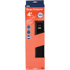 Do it Best 7-Outlet 1500J Black Computer, Phone, Or Fax Surge Protector Strip with 4 Ft. Cord Image 1