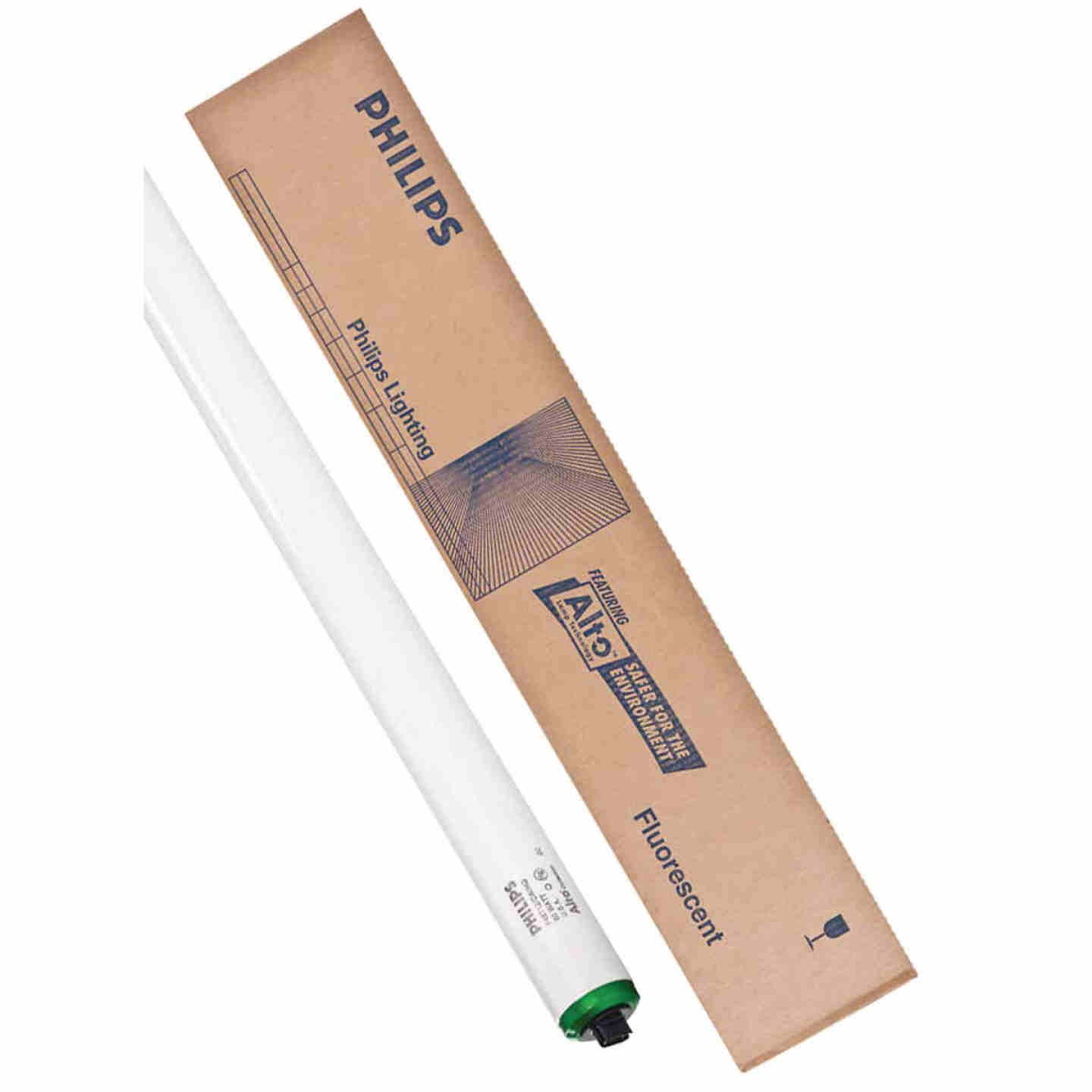 Philips 60W 48 In. Cool White T12 Recessed Double Contact High Output Fluorescent Tube Light Bulb Image 1