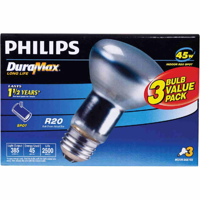 Philips DuraMax 45W Frosted Medium R20 Incandescent Spotlight Light Bulb (3-Pack) Image 2