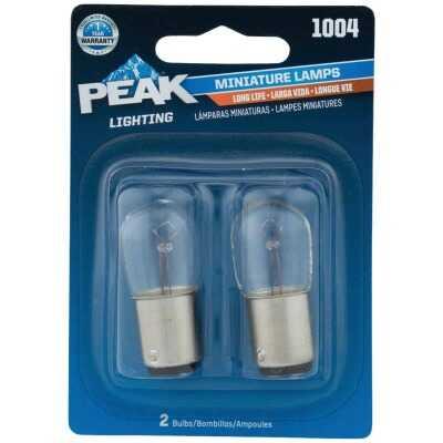 PEAK 1004 12.8V Mini Incandescent Automotive Bulb (2-Pack)