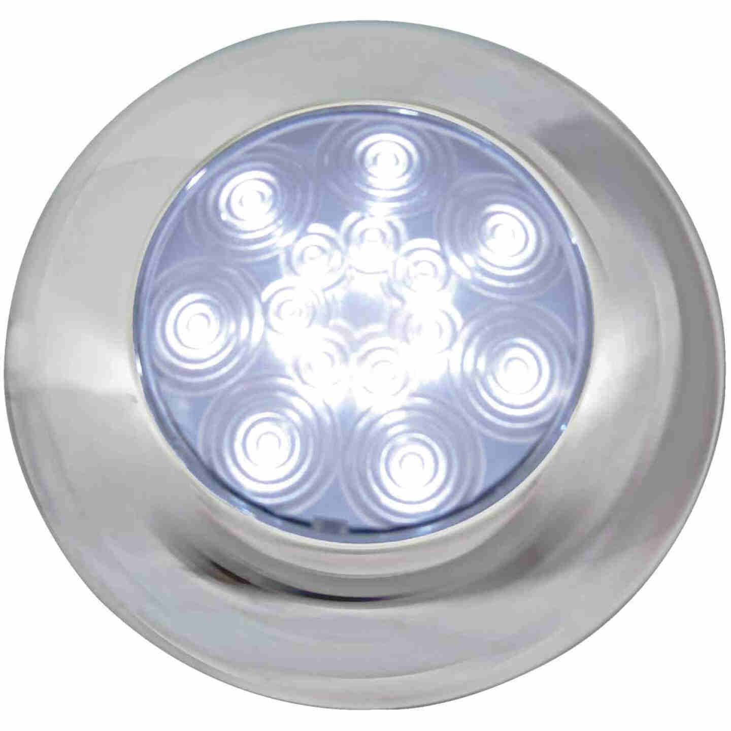 Peterson 9-16 V. White Round Dome Light Image 1