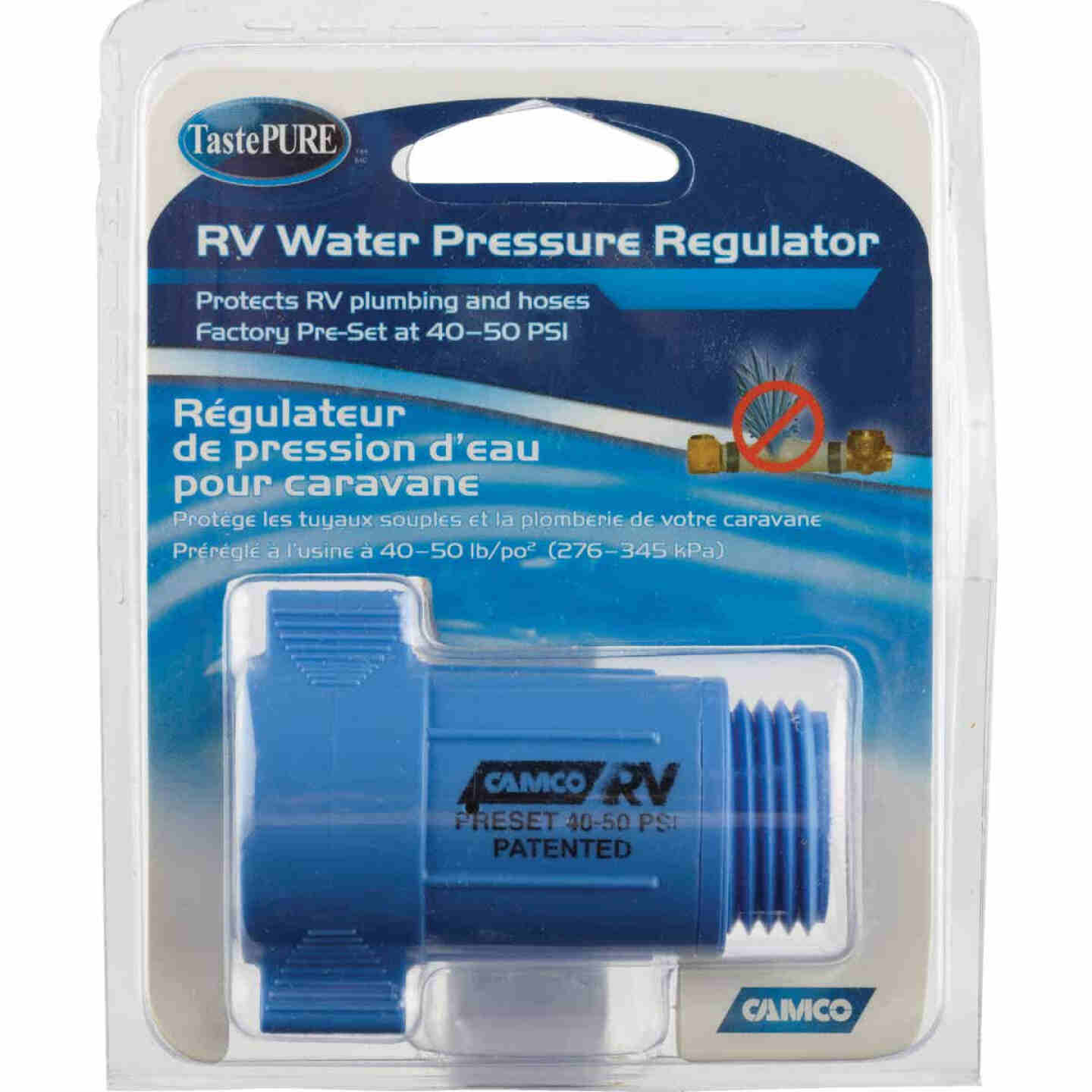 Camco 3/4 In. 40 - 50 psi Durable ABS Plastic RV Water Regulator Image 2