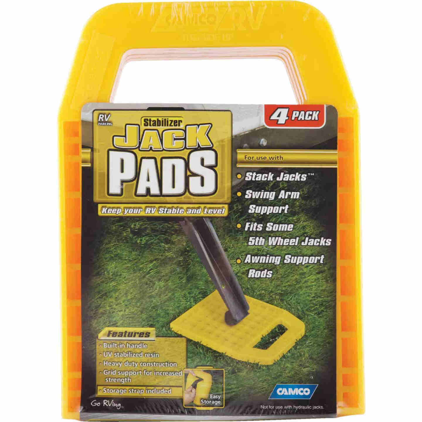 Camco Interlocking w/Built-in Handle RV Stabilizer Jack Pads, (4-Pack) Image 5