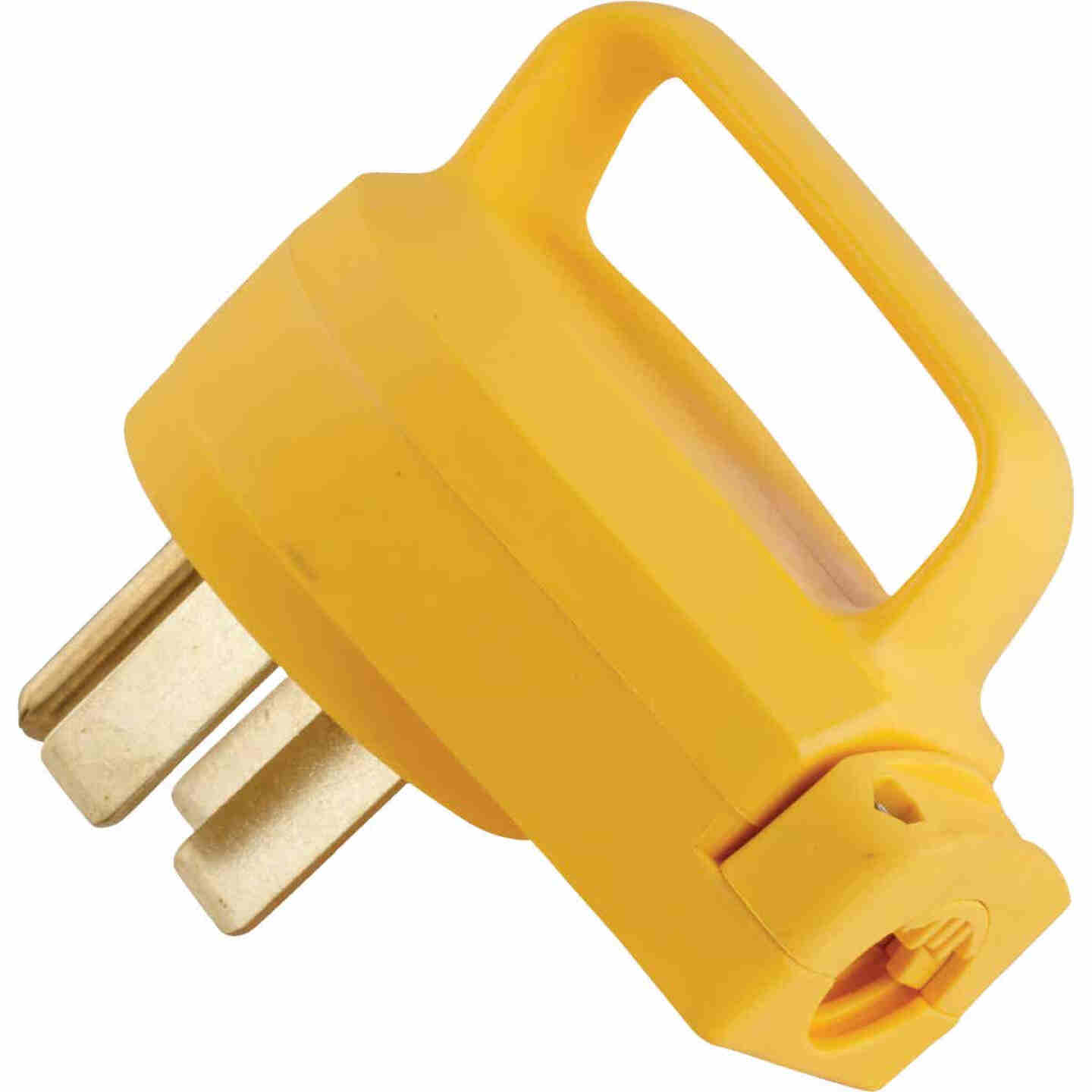 Camco PowerGrip 50A Male Replacement RV Plug Image 1