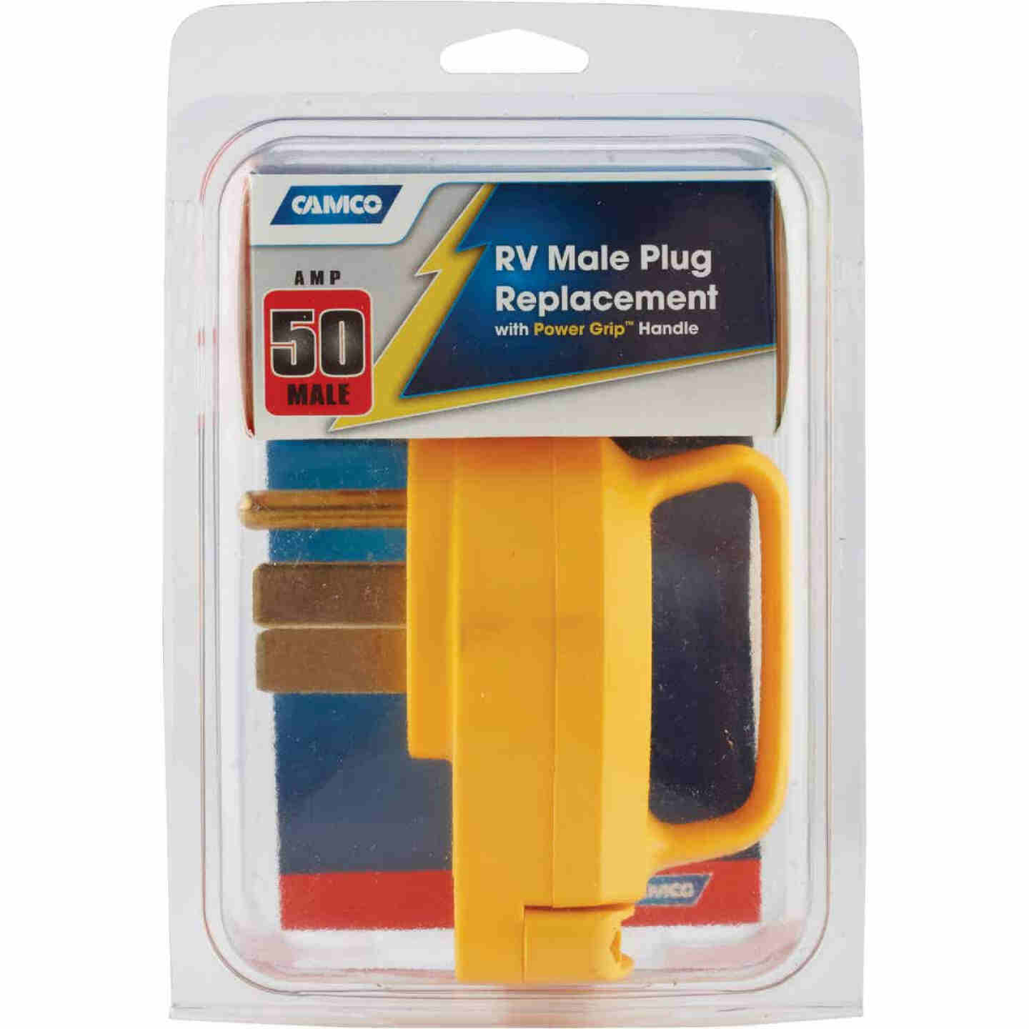 Camco PowerGrip 50A Male Replacement RV Plug Image 2