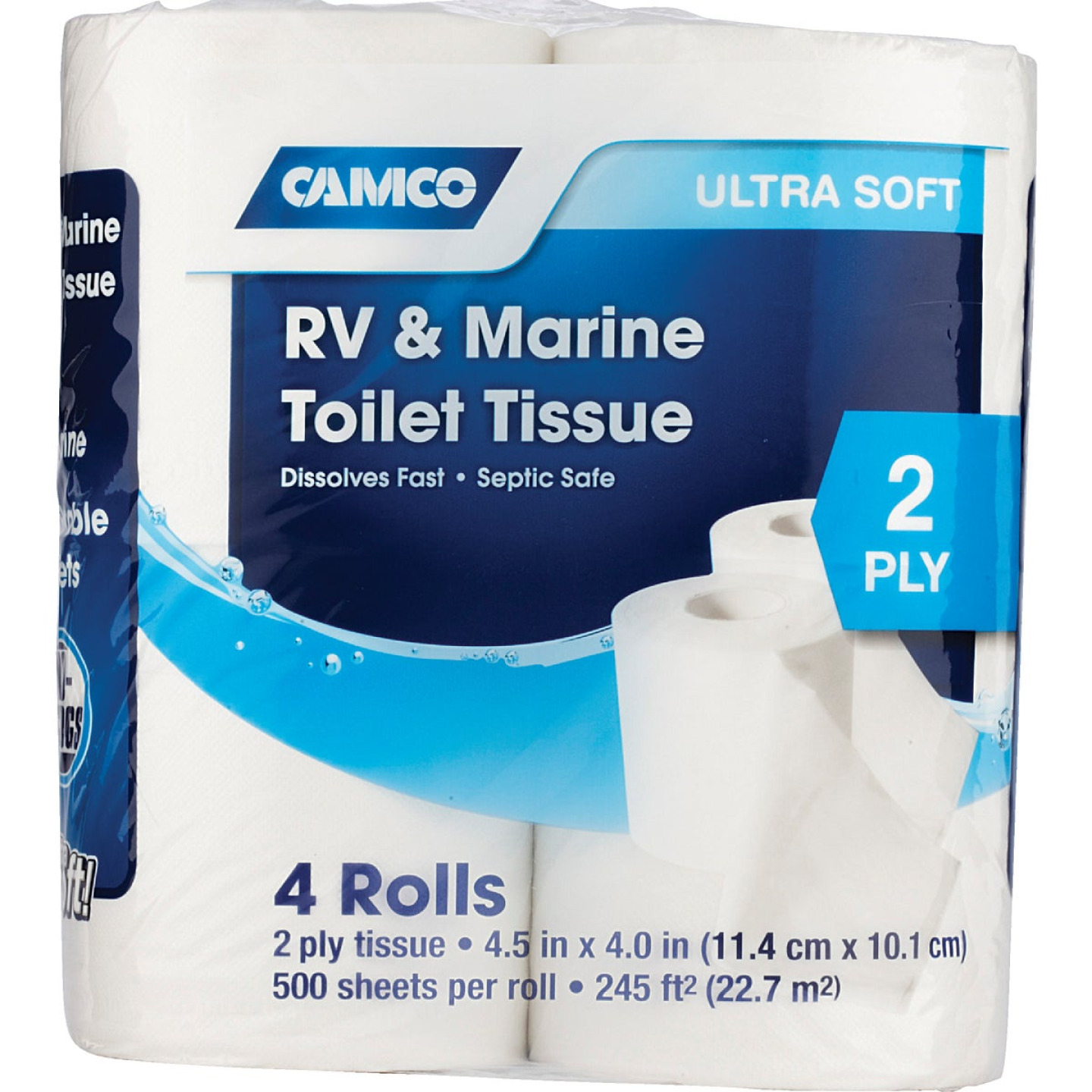 Camco RV & Marine 2-Ply Toilet Paper (4 Regular Rolls) Image 2
