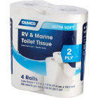 Camco RV & Marine 2-Ply Toilet Paper (4 Regular Rolls) Image 3