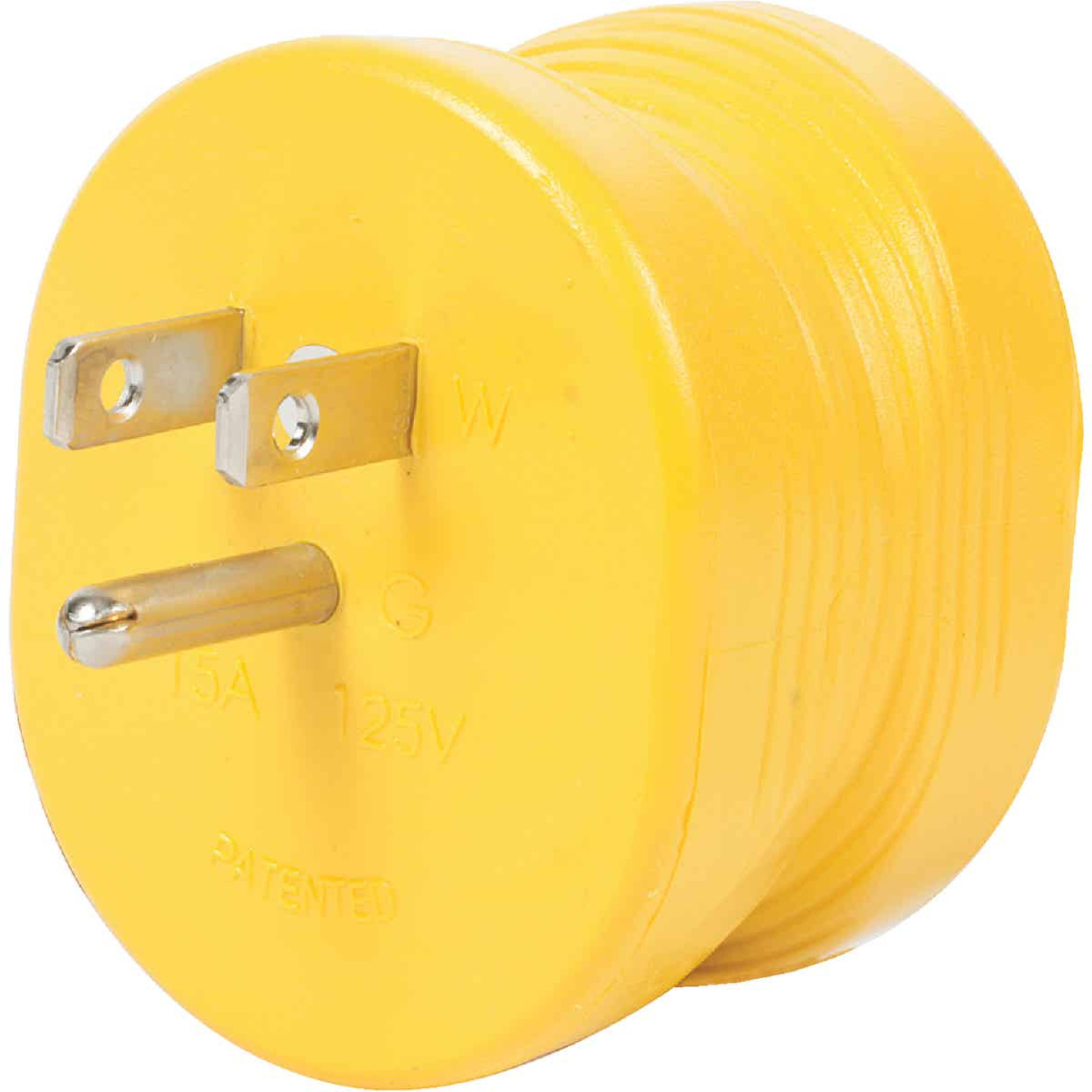 Camco Power Grip 15A Male to 30A Female RV Plug Adapter Image 1