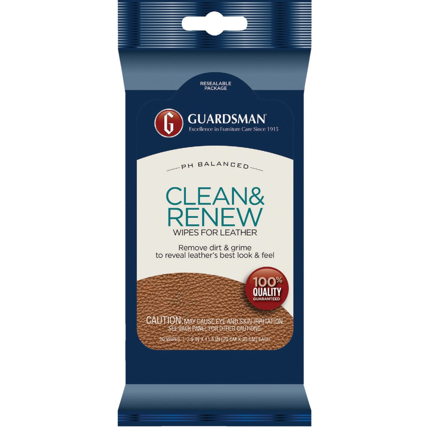 Guardsman Clean & Renew Leather Care Wipes (20-Pack) Image 1