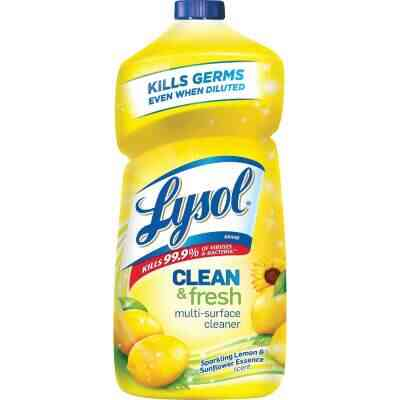Lysol 40 Oz. Lemon & Sunflower Essence Clean & Fresh Multi-Surface Cleaner
