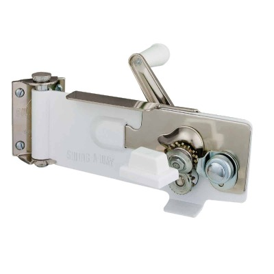 Swing-A-Way White Magnetic Wall Mount Can Opener