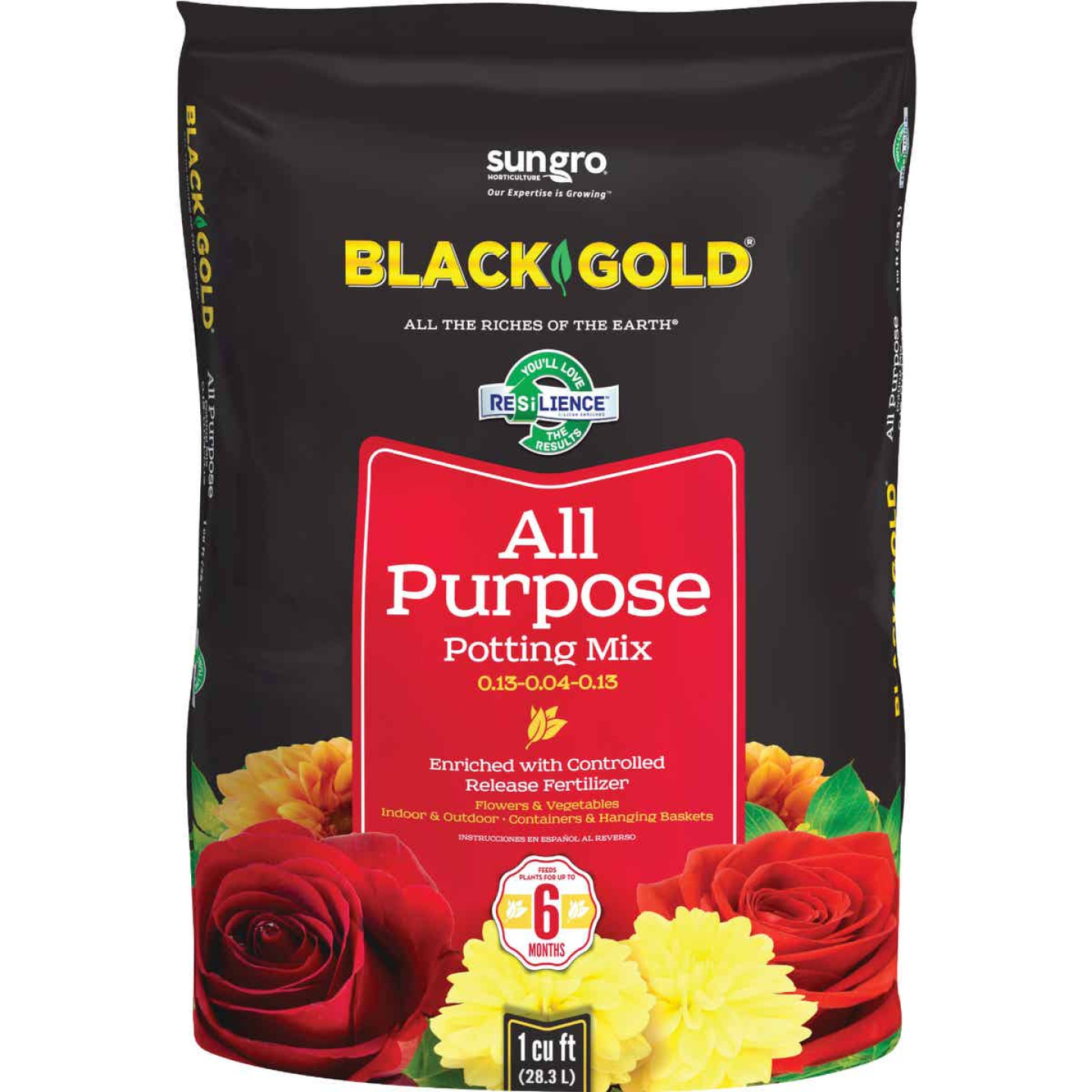 Black Gold 1 Cu. Ft. 27 Lb. All Purpose Potting Soil Image 1