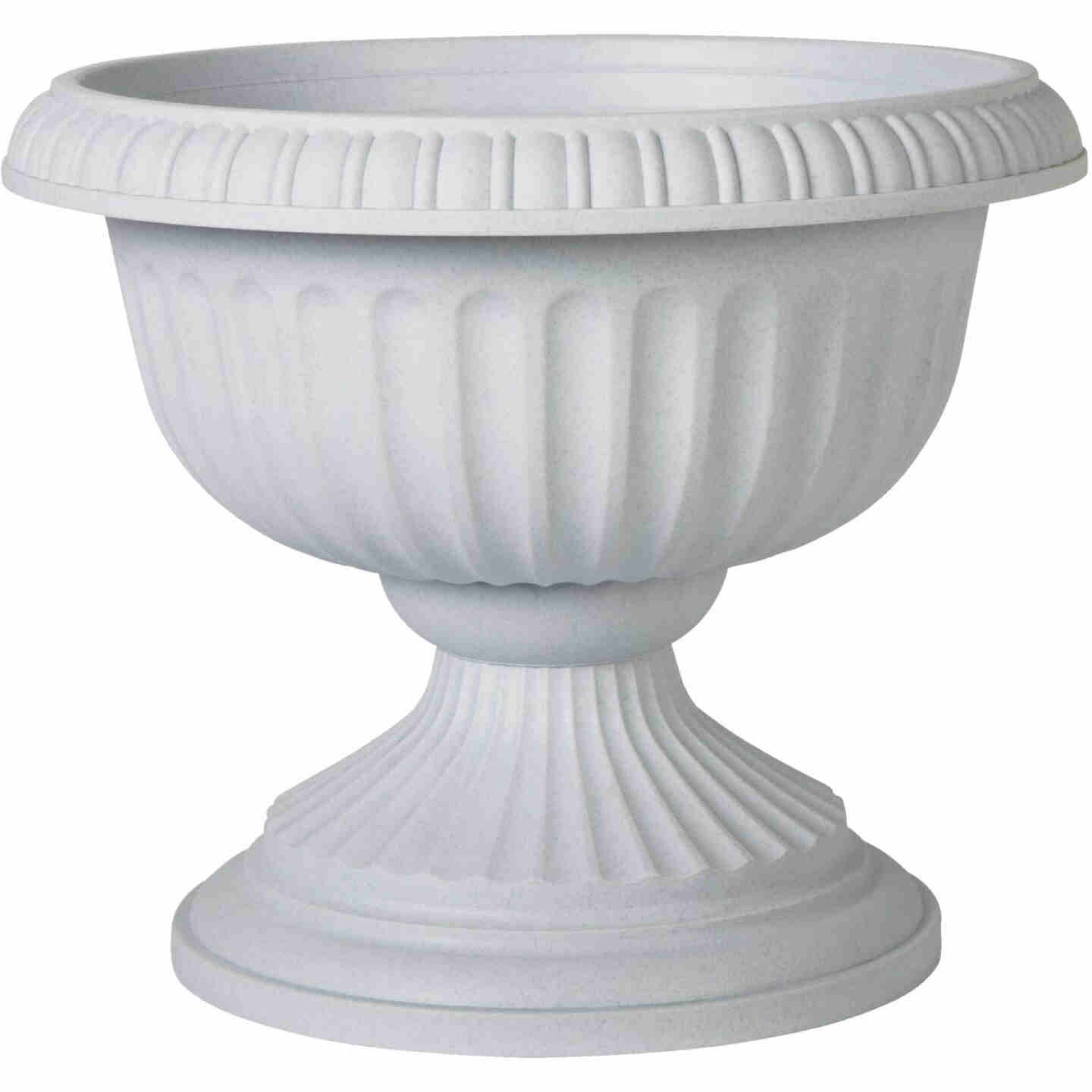 Novelty 18 In. W. x 14.5 In. H. x 18 In. L. Poly Stone Urn Image 1