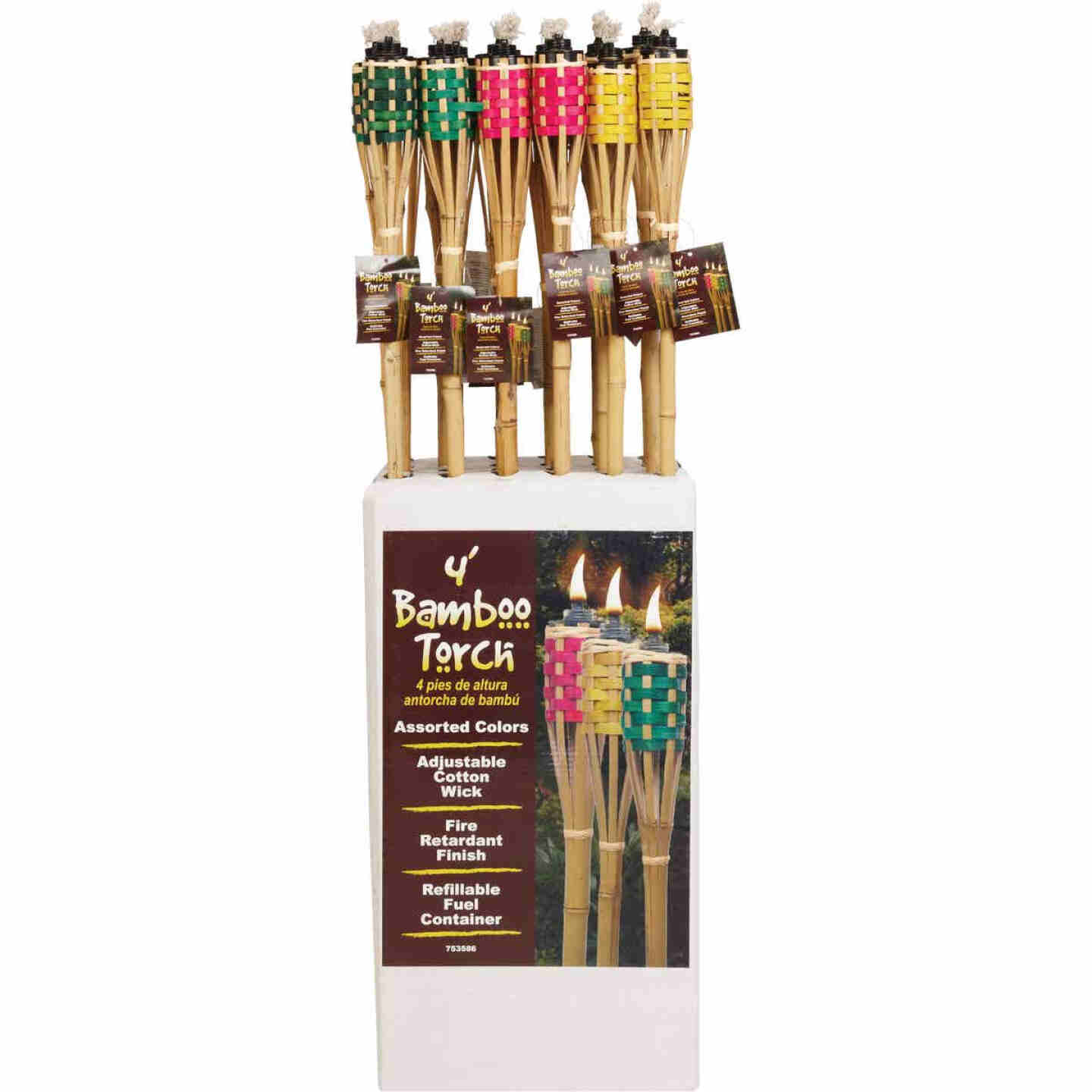 Outdoor Expressions 4 Ft. Assorted Color Bamboo Party Patio Torch Image 4