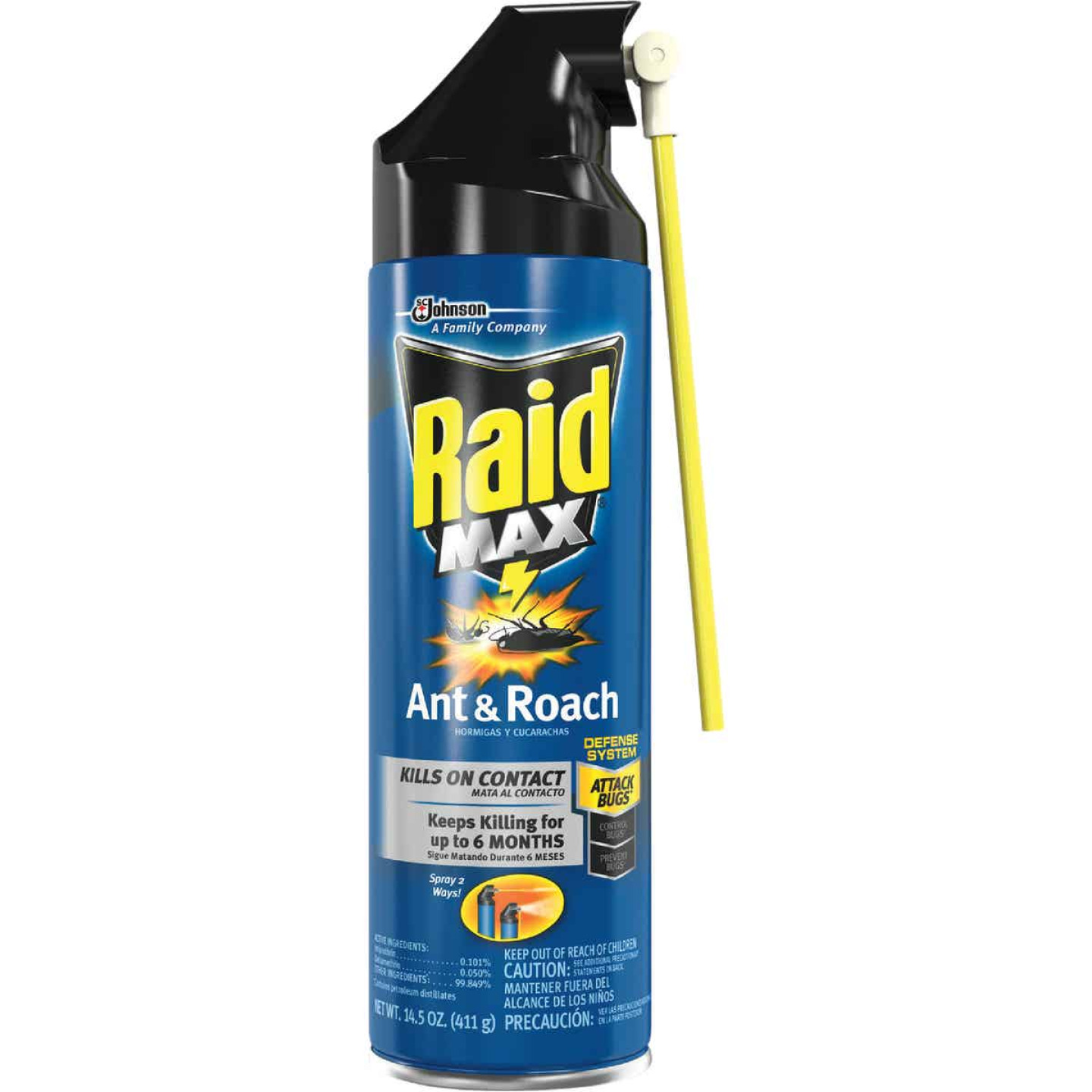 Raid Max 14.5 Oz. Aerosol Spray Ant & Roach Killer Image 1