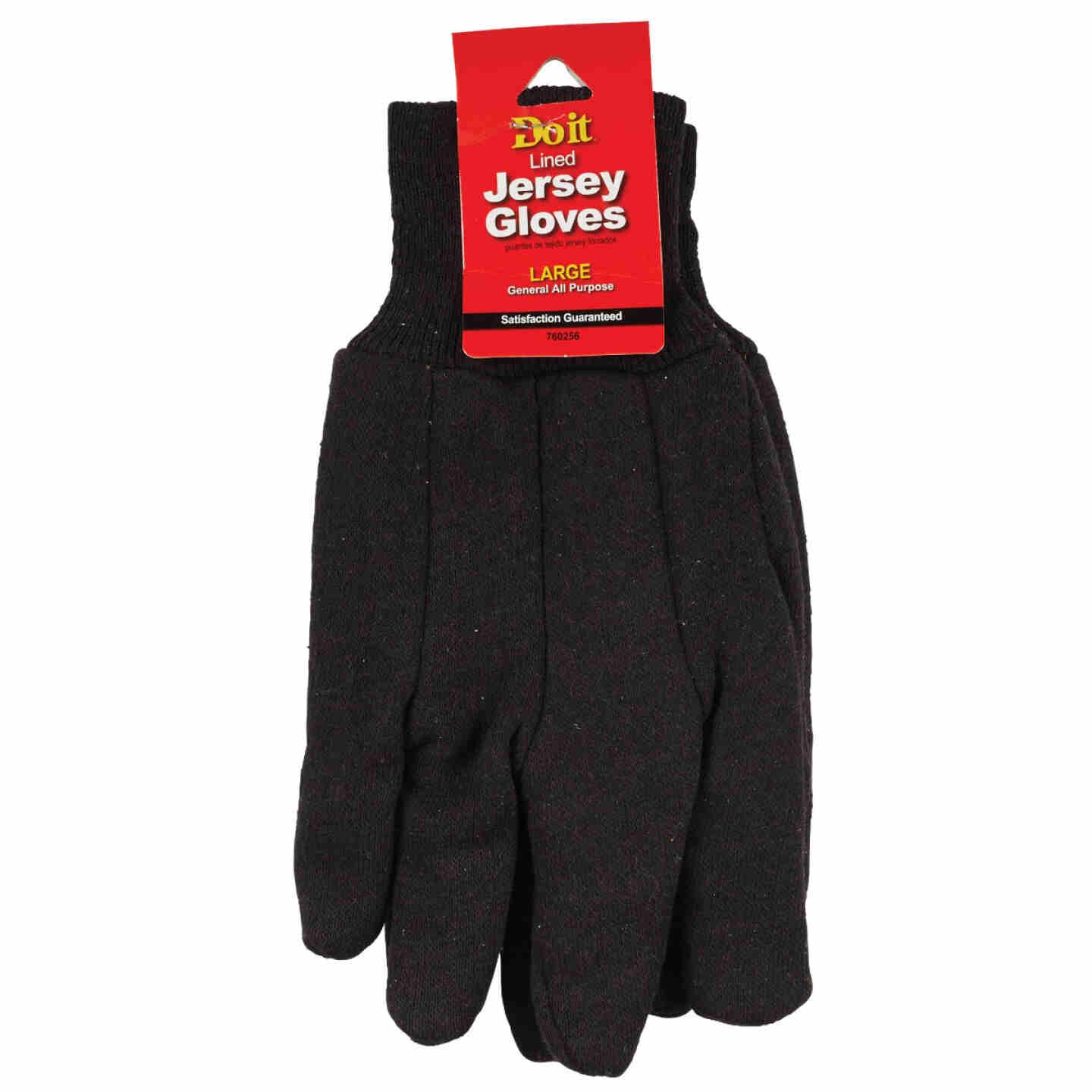 Do it Men's Large Lined Jersey Work Glove with Knit Wrist Image 2
